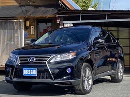 レクサス RXハイブリッド 450h バージョンL サンルーフ 黒本革電動シート HDDナビ 19AW