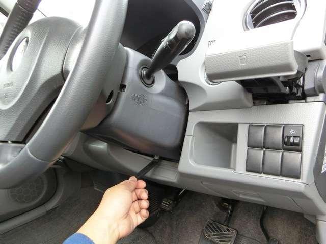 高グレードの証チルトステアリング!ハンドルの高さが調整できるので、運転操作も快適!