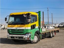 UDトラックス クオン 11.2t セルフローダー 低床 2デフ ウインチ 重機運搬車 ハイジャッキセルフ