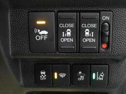 横滑り防止装置 衝突被害軽減ブレーキ 両側電動スライドドア 安全で便利な装備が充実しています!
