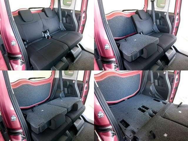 かなり広いセカンドシートスペース、お子様も大人も楽々快適に乗車できます。
