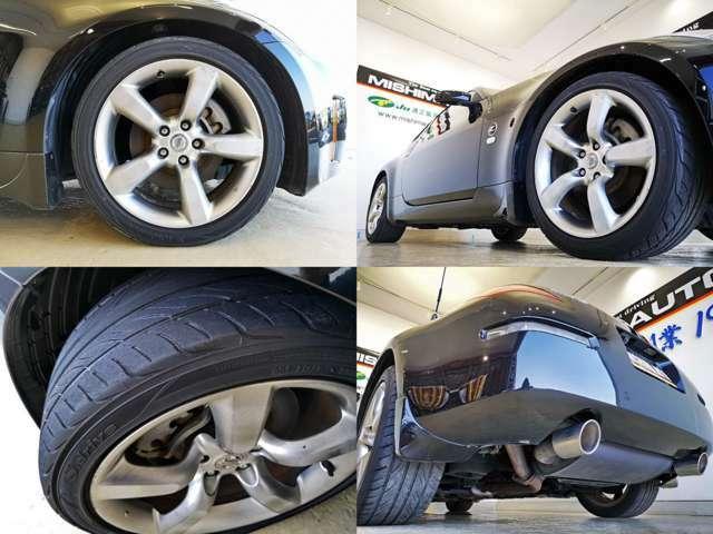 ノーマル足回り 後期専用18アルミも素敵ですね タイヤはまだ使えますが 交換時期と言えば交換時期ですね、高性能国産~格安海外製まで 契約時に承ります