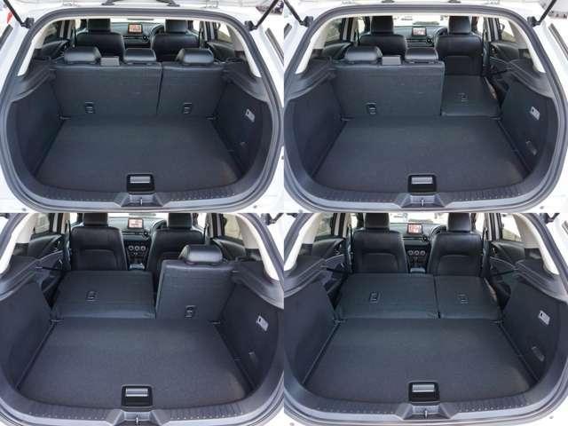 6:4分割でシートを倒すことが出来、簡単な操作で、長い荷物も載せられます。