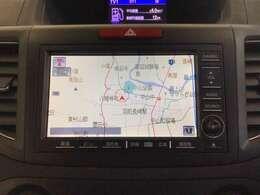 ナビゲーションはフルセグTV、インターナビ対応の工場装着HDDナビを搭載。