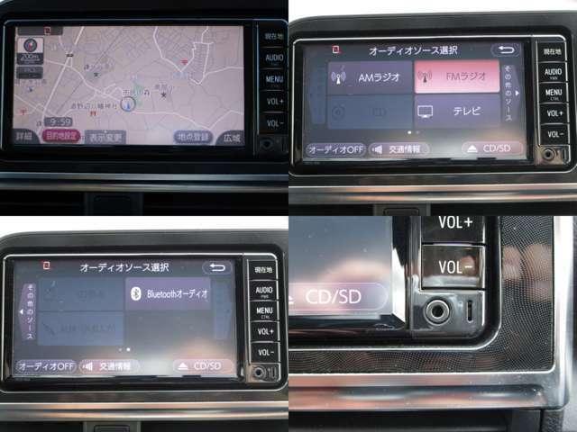 ワンセグ対応純正SDナビ&CD&MP3&SDの組み合わせで、AUX&BTオーディオで色々なポータブル機器にも対応しハンズフリーフォンの使用も可能です。