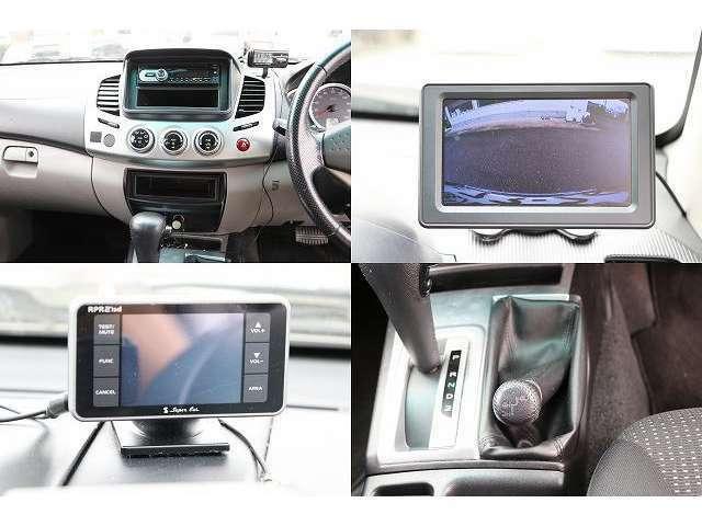 CDデッキ 常時バックカメラ GPSレーダー 切り替え式4WD