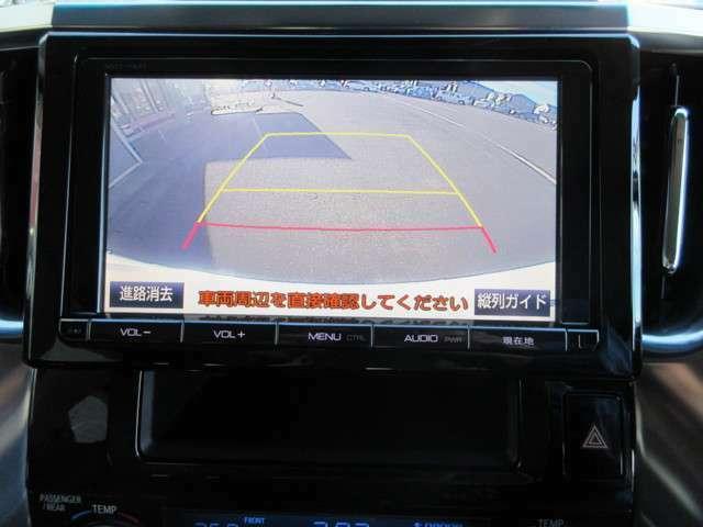 カラーで見やすいバックカメラが装備されております。お車を初めて運転されるかたやバック操作が苦手のお客様にはオススメの装備ですよね☆ .
