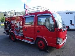 いすゞ エルフ 水槽付消防車 消防ポンプ自動車 900L積み A-2級 日本機械工業製 Wキャブ 5人乗り