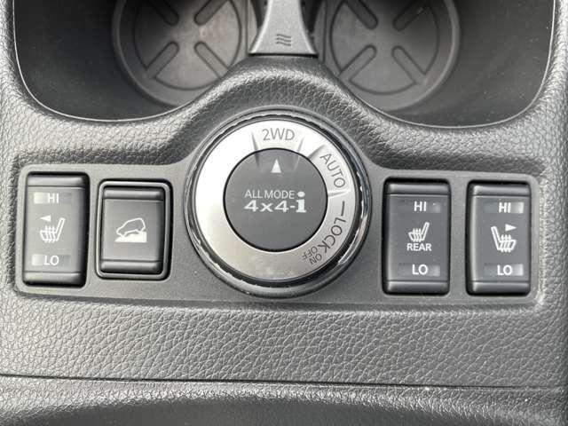 4輪駆動の切り替えスイッチ!悪路などで切り替え安定の運転をサポートしてくれます