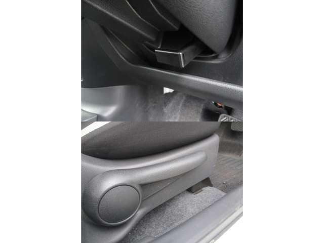 運転席にはステアリングとシートの上下調節機能を備えておりますので、ドライバーの体格に合わせた調整が可能です☆