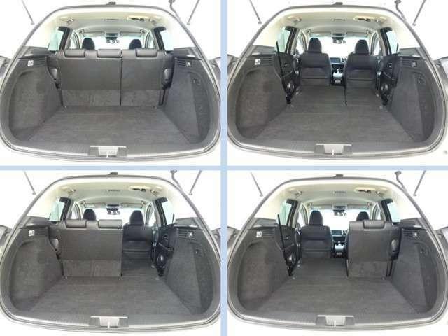 【トランク空間】十分な広さのトランク空間。多彩なシートアレンジでさらなる大空間も可能です。