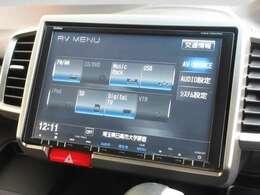 ホンダ販売店オプション9インチ画面メモリナビVXM-135VFNi。ラジオ、CD、DVD再生、音楽録音再生、フルセグTVがご利用可能。リンクアップフリー端末もあり、インターナビの機能をフル活用です