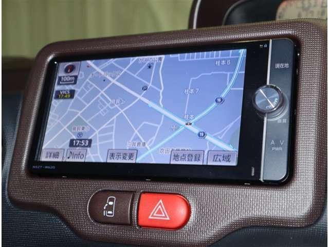 トヨタ純正SDナビ搭載。地デジチュ-ナ-付フルセグでTV見れます。