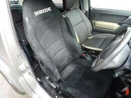 運転席はBRIDE製のバケットシート(リクライニング機構付)に交換済!