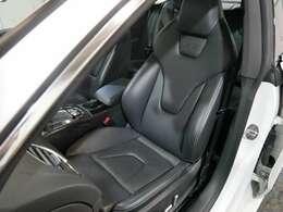 S5ロゴ入りヒーター付ブラックファインナッパレザーSスポーツシート(メモリー・ランバーサポート付電動)☆ご来店のご都合がつかない方は、お勤め先・ご自宅等ご指定の場所へ車輌をお持ちいたします☆