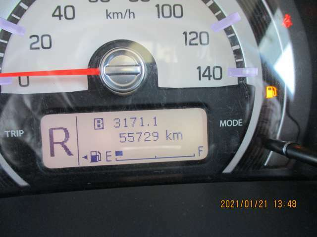 走行距離55.729km少なく良好