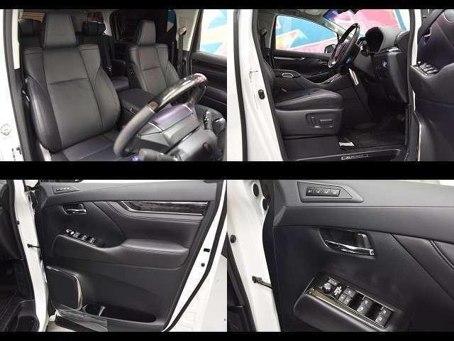 合成革の高級感溢れるシートです!!パワーシート、シートヒーター&シートクーラー便利な装備が充実しています!!高級感溢れる車内空間をお楽しみください♪