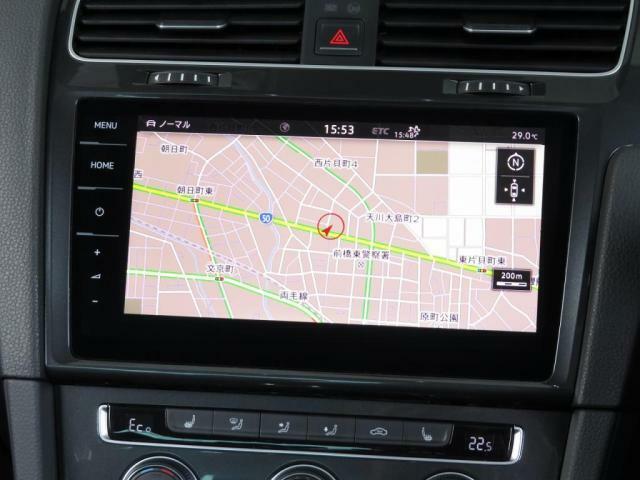 """Volkswagen純正インフォテイメントシステム""""Discover Pro"""":従来のナビゲーションシステムの域を超える、車両を総合的に管理するシステムです。"""