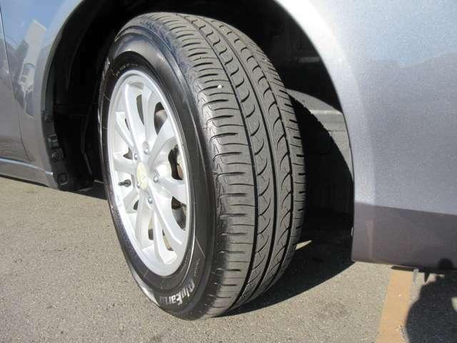タイヤの状態も悪くなく、ホイールにも傷はなさそうです!