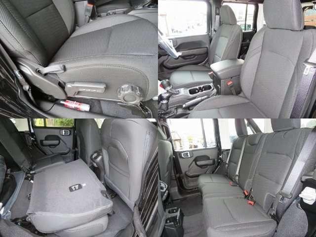 上下調整機能付き運転席シート 可倒式リヤシート