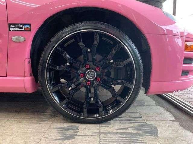 F・レイズ・フルクロス・クロススリーカーズT6・20インチAW+新品ハイフライ・HF805装着!純正16インチAW+ブリジストン・ポテンザS001付属!新品ラルグス車高調(オーダ済み)ピンクカラーラグナット!