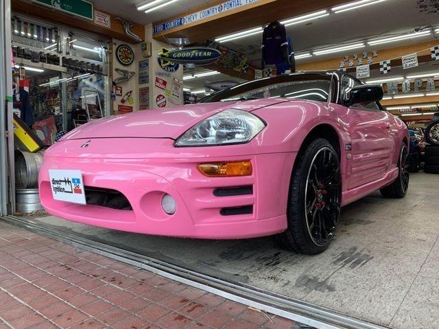 ピンクスパイダーD.I.Dデモカー!デュラフレックスボディキット&フェンダー&ボンネット!ランボドア・ラルグス車高調・レイズ20インチAW!NRG製ピンク色フルバケットシート&シートレール・5点式他カスタム多数!