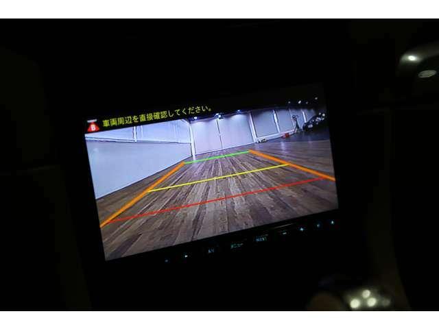 オプションのリバースギア連動バックカメラ装備!!