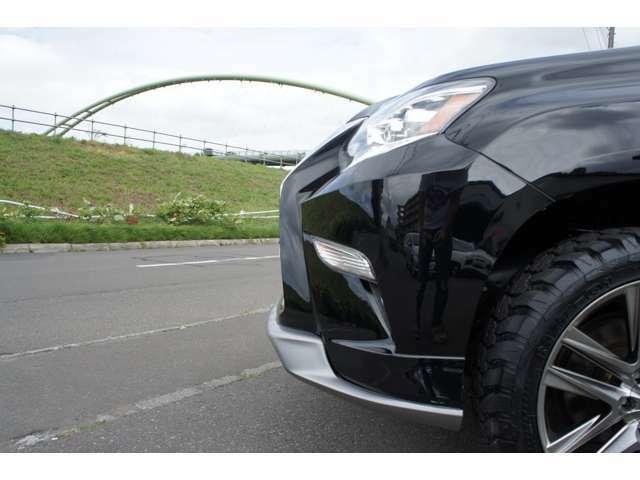 US LEXUS GX460FACEのPRADOの入庫です★もちろん修復歴等のない距離浅車両をベースとして製作しました★新品タイヤも付いてこのプライス★お問い合わせはお早めに→011-876-4000