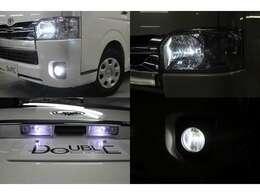 ヘッドライト・ポジションランプ・フォグランプ・ナンバー灯はLEDを取付済みです。