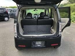 トランクも広々とした空間となっており荷物など安心!