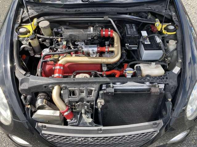 中古エンジン載せ替え済みクラッチOH済みオールアルミラジエーター、インタークーラー換装済み水まわりホース交換済み