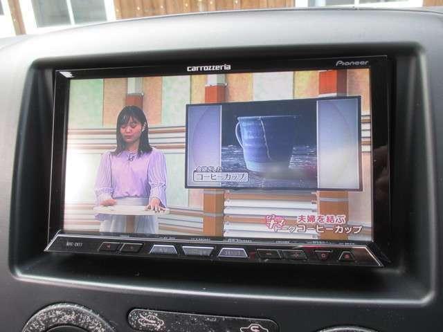 カロッツェリア製ナビゲーションが装備されております!地デジ視聴可能!