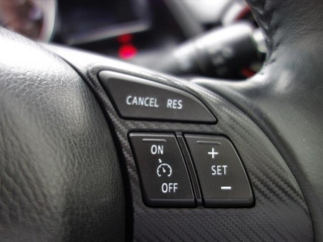 アクセルを踏み続けなくても設定した速度で走り続けられるクルーズコントロール。ドライバーの疲労軽減をサポートする機能です。