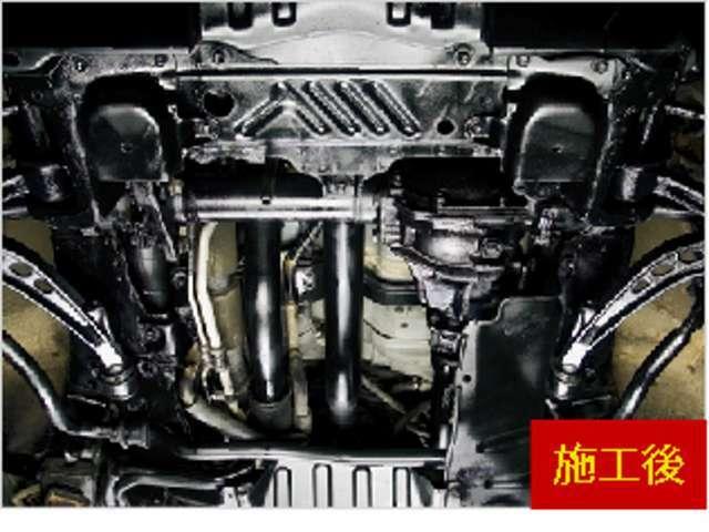 Bプラン画像:大切なお客様のお車を融雪剤からの錆を防止いたします。