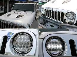 社外ボンネット・メッキグリル・LEDヘッドライト&フォグ♪バックカメラ&サイドビューモニター♪