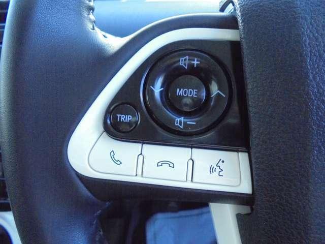 ハンドルから手を離さずに簡単なオーディオの操作が出来るので安全運転につながります。