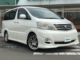 トヨタ アルファード 2.4 G ASプレミアム・アルカンターラバージョン 4WD 社外ナビ両側パワスラフリップダウン
