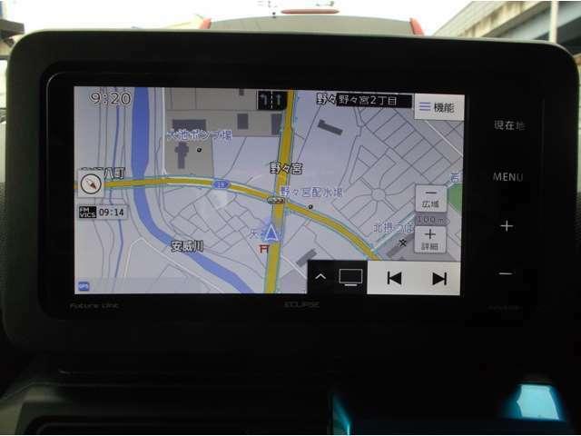 イクリプス 7型ワイドナビAVN-R10W 地デジDVDミュージックサーバー ステアリングリモコン・ETC
