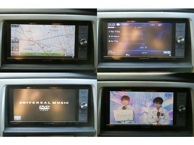 社外HDDナビです。別途料金にてナビの取り付けも可能です。CDを録音することができます。録音した音楽を聴くことができます。DVDを視聴することができます。TVを視聴することができます。