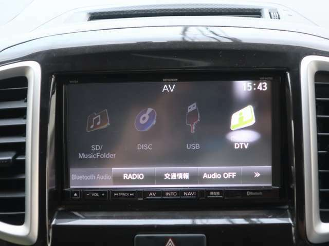 オプションナビ【NR-MZ50】です。通常のナビ機能に加えて、CD/DVD/地デジ/USB/Bluetooth接続など出来ます!