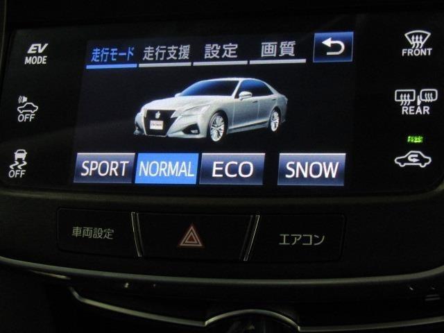 ドライブモードセレクトスイッチパネルです。天候や気分などにより走行モードを切り替える機能があります。
