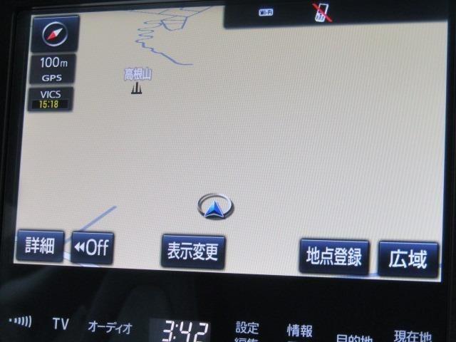 メーカー装着のトヨタ純正TCナビ+フルセグテレビ+Bカメラ+ETC付きです。詳細地図により目的地をピンポイントで設定できます。初めての道でも迷いにくく、ロングドライブも快適ですよ♪