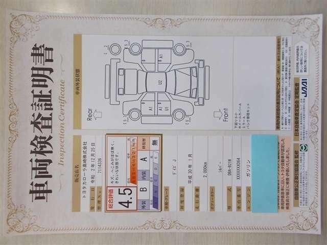 【トヨタ認定中古車】の一つの要素でもある<車両検査証明書>! おクルマの状態をこれ一枚でチェック☆