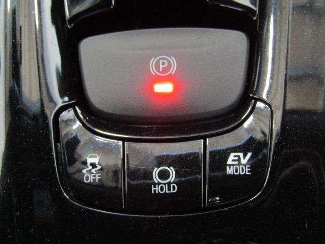 電動パーキングブレーキ付きです! スイッチひとつでブレーキの作動・解除が出来、ホールド機能もあるので大変便利ですね♪