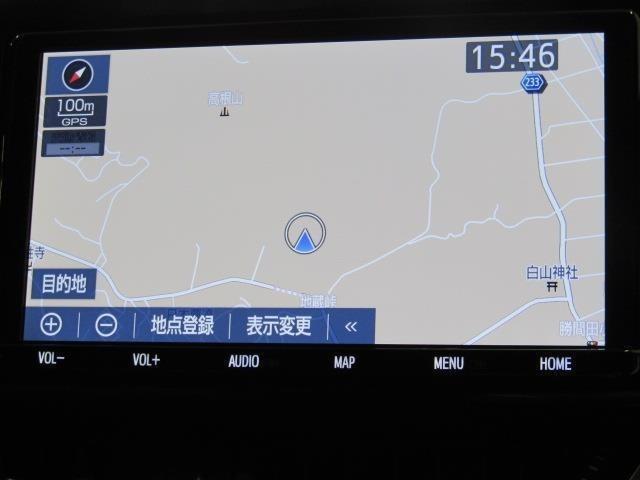 トヨタ純正TCナビ+フルセグテレビ+Bカメラ+ETC付きです。詳細地図により目的地をピンポイントで設定できます。初めての道でも迷いにくく、ロングドライブも快適ですよ♪