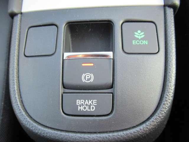 電動パーキングブレーキが装備されています!ブレーキホールドも装備されているので停止時に便利です!