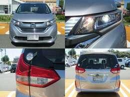 ヘッドライトはLEDが装備されています!通常のハロゲンライトより高光度で省電力!夜道を明るく照らしてくれますよ!