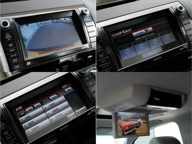 あると安心なバックカメラやドライブで活躍するフリップダウンモニターも付いております!