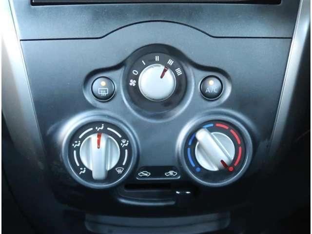 【マニュアルエアコン】ダイヤル1つで、温度調整ができます!