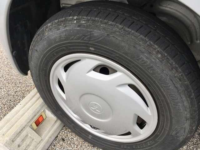 綺麗な国産タイヤが付いています!